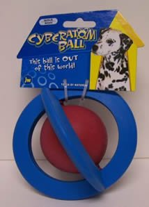 JW Pet Company Tough by Nature Cyber Atom Ball Dog Toy Assorted colors