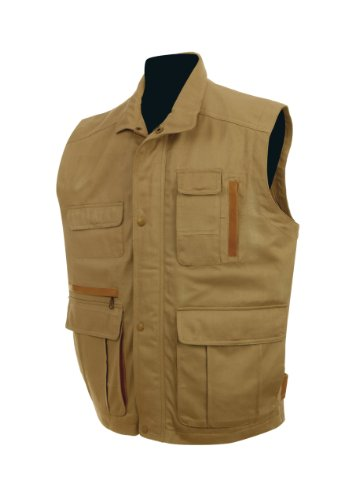 204C : Canvas Gilet Olive green, XXXX-Large