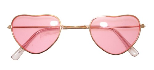 Pink Heart Shaped Lens Hippy Spectacles