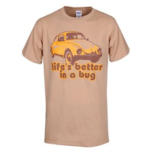Genuine VW Life Is Better In A Bug Tee - Size Large from Volkswagen