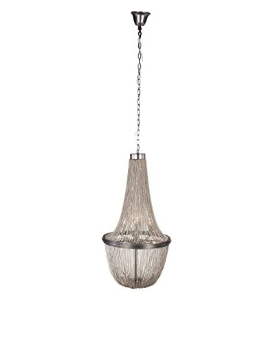 Control Brand Emer 6-Light Chandelier, Chrome