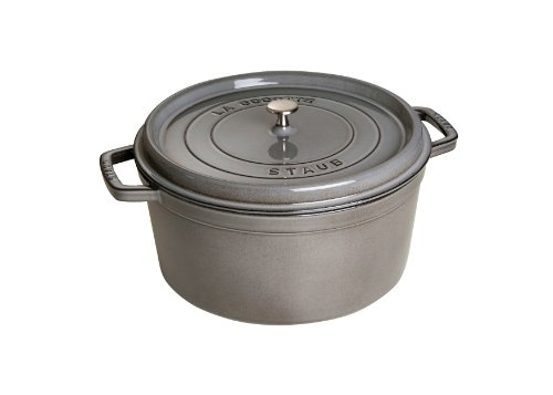 Staub 1103018 Round Cocotte Pot, 30 cm, Graphite Grey