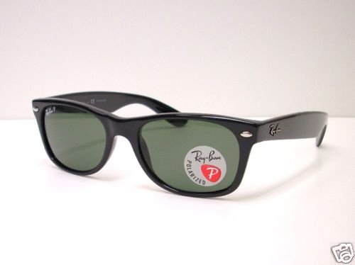 Ray Ban New Wayfarer 2132 901/58 Black POLARIZED 52 SM