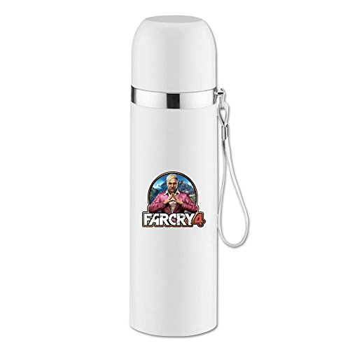 AT-Meatia3 Far Cry 4 Game Vacuum Flask Bottle White