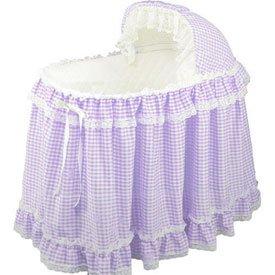 Gingham Bassinet Set - Color: Lavender front-978673