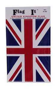 Union Jack (British Flag) Self Adhesive Sticker 3
