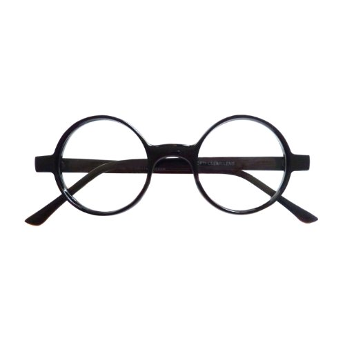 VINTAGE 50s 60s Style Round Frame Nerd Polite Fashion Clear Lens Eye Glasses ...