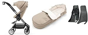 Stokke Scoot Stroller + Stokke Scoot Softbag + Stokke Xplory & Scoot Car Seat Adapter Maxi Cosi Set (Beige Melange)