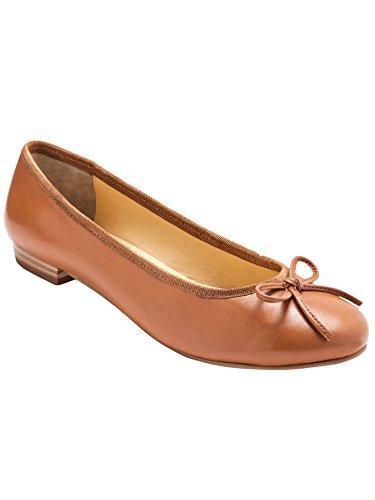 Balsamik - Ballerine, vestibilità larga per comodità - donna - Size : 36 - Colour : Marrone chiaro solido