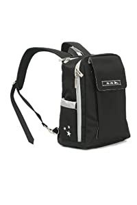 Ju-Ju-Be Minibe Backpack Bag, Black/Silver from Ju-Ju-Be Diaper Bags