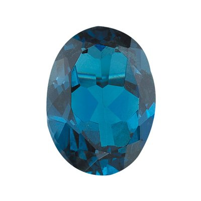 1.26 Cts of 8x6 mm AA Oval London Blue Topaz