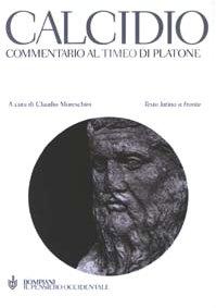 Cover Commentario al Timeo di Platone. Testo latino a fronte
