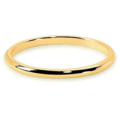 Helios Bijoux Men and Women's Wedding Ring, 18 Carat Yellow Gold, Size 62, NEW Certificate of Authenticity-Made in France
