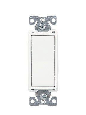 Cooper 7504W Light Switch, Decorator Rocker Switch, 4-Way - White