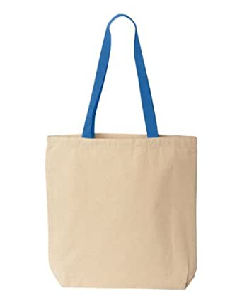 Liberty Bags Marianne Cotton Canvas Tote - NATURAL/ROYAL - OS