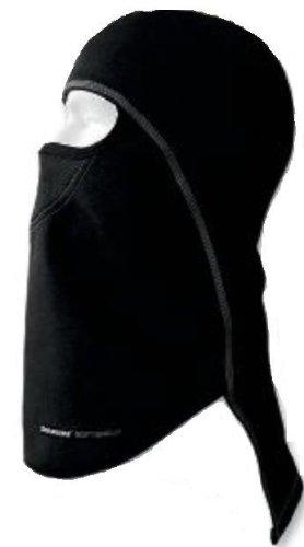 SCHAMPA & DIRT SKINS Schampa Pharaoh Deluxe Balaclava Black with Gray Stitching BLCLV015D-02