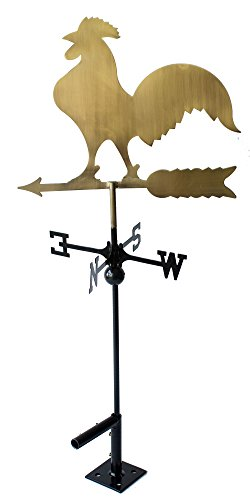 classic-32-tall-metal-copper-color-rooster-weathervane-with-adjustable-roof-mount-