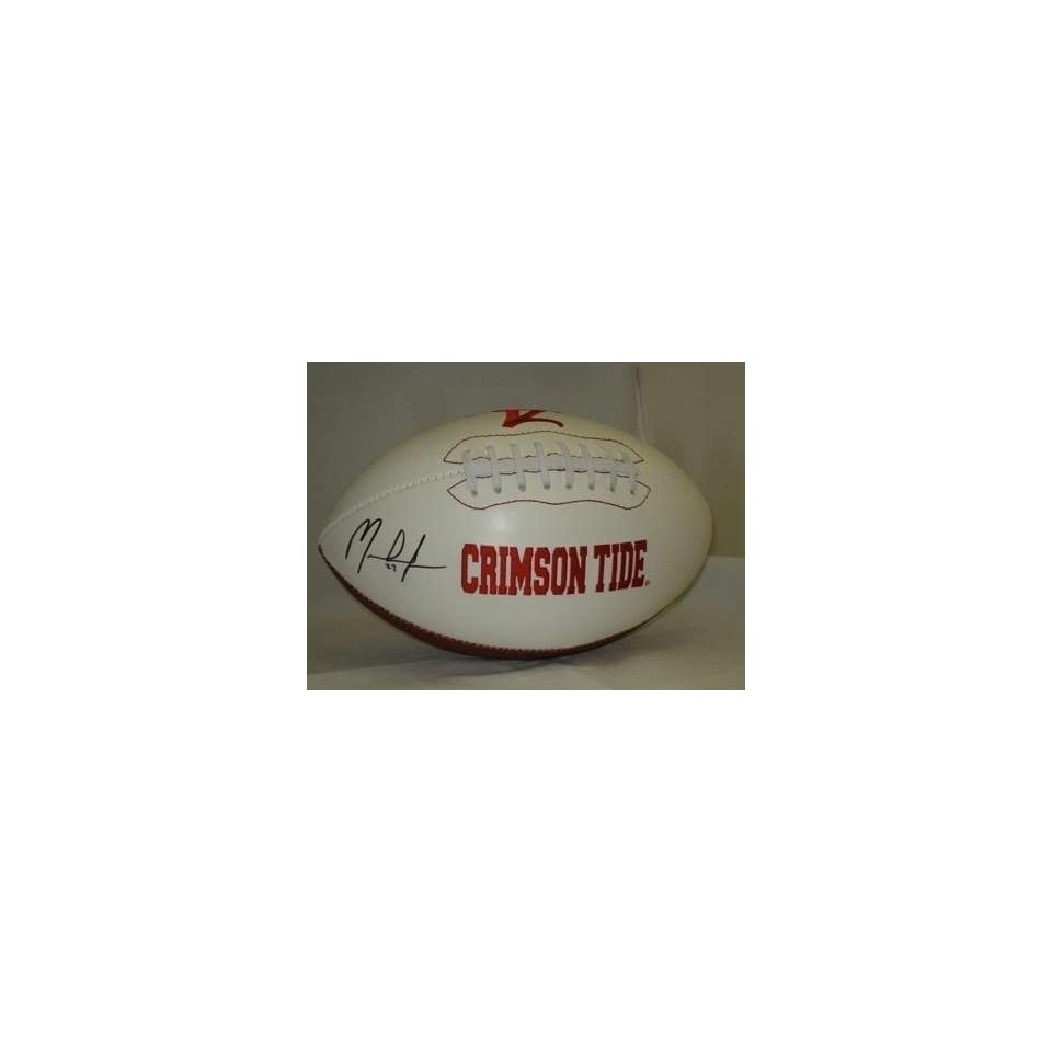 MARK INGRAM Autographed Alabama Crimson Tide Football   Autographed College Footballs