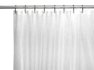 carnation home fashions 10 gauge peva 72 by 96 inch shower curtain liner x long. Black Bedroom Furniture Sets. Home Design Ideas