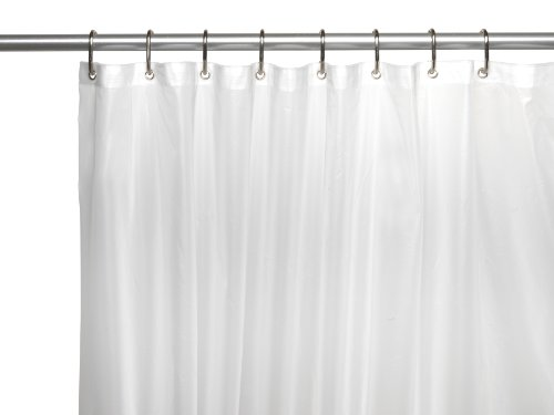 Carnation Home Fashions 10 Gauge PEVA 54 By 78 Inch Shower Curtain Liner, Stall  Size, Frosted Clear
