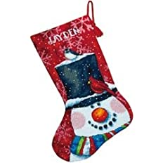 Dimensions Snowman And Friends Stocking Needlepoint Kit 16