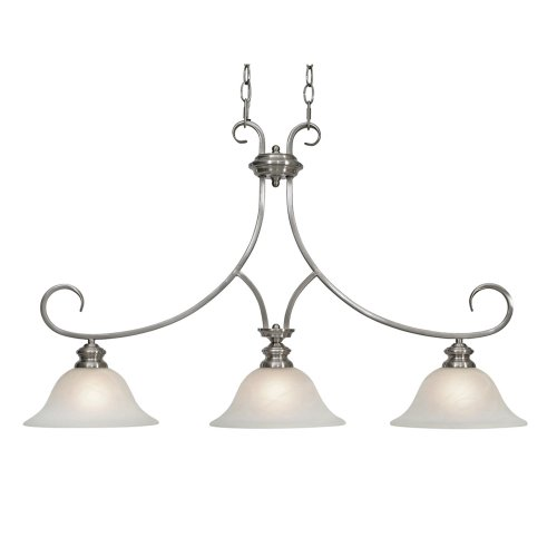 B000YQBJKK Golden Lighting 6005-10 PW Lancaster Island Light, Pewter Finish