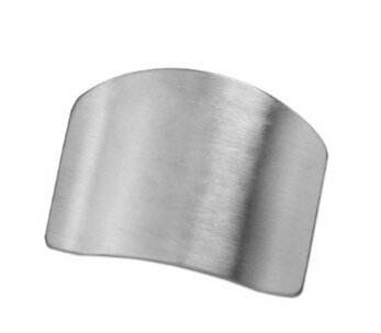 Edealing Finger Knife Slice Main Guard Protector Chop Safe Outil cuisine en acier inoxydable pack de 3