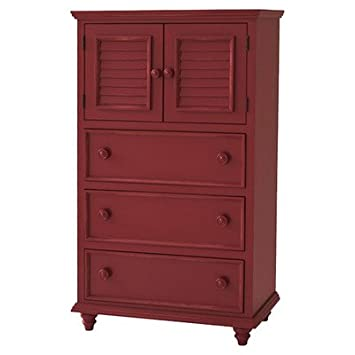 Outer Banks 3 Drawer Chest Finish: Red