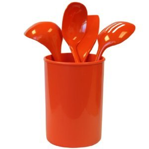 Calyspo Basics Orange 5 Pc Utensil Holder Set