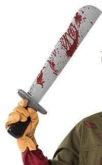 Friday the 13th Jason Voorhees Costume Weapon Machete Adult Standard
