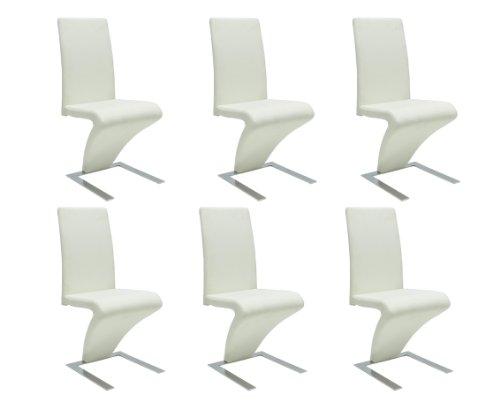 Prezzo poco costoso Sedie moderne design set da 6 sedie ecopelle ...