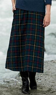 Buy Wool Challis Tartan Skirt