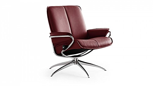 Stressless-City-Sessel-mit-Hocker-M-Low-back-Rot-gnstig