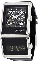 Kenneth Cole Straps Automatic/Digital Black Dials Men's watch #KC1749