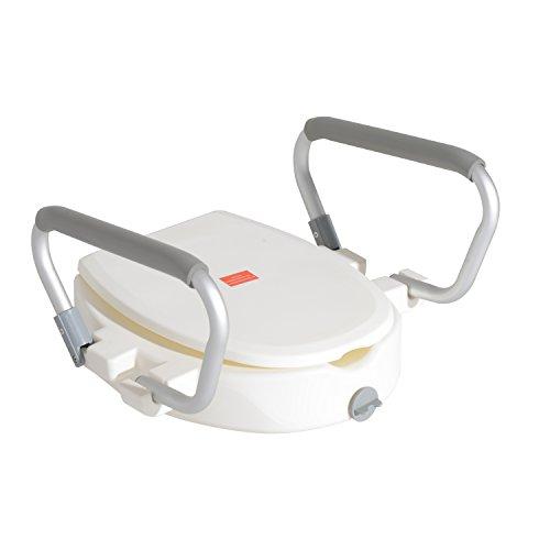 Homcom Toilettensitzerhöhung Sitzerhöhung mit Armlehnen mit/ohne Deckel WC Toiletten Sitz (Modell 2)