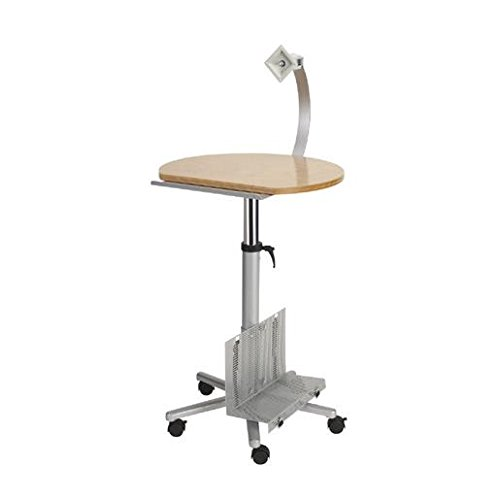 Maul 9317070 - Tavolino per monitor a schermo piatto, altezza: 72-118 cm