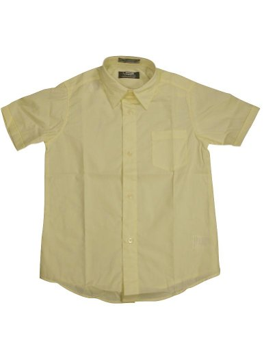 French Toast - Little Boys Short Sleeve Dress Shirt, Yellow 33163-7 front-886907