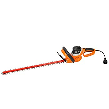 GARCARE 4.8-Amp Corded Hedge Trimmer with Rotating Handle and 24