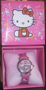 HELLO KITTY WRIST WATCH WITH GIFT BOX