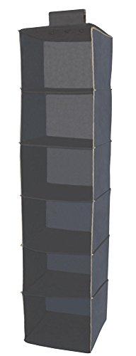 Alpha Soft Ordi - Organizer pensile per scarpe e vestiti - Disponibile in due formati (Portabiancheria pensile 6 scomparti)