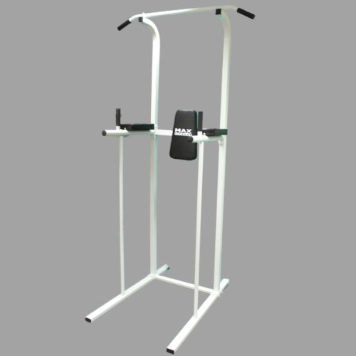 MAX FITNESS POWER TOWER AB DIP STATION PULL/CHIN UP BAR HOME GYM KNEE/LEG RAISE