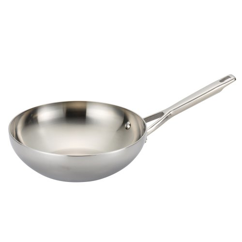Anolon Tri-Ply Clad Stainless Steel 10.75-Inch Stir Fry (Anolon Wok Pan compare prices)