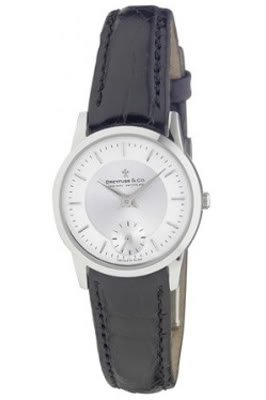 Dreyfuss Ladies Black Leather Strap Watch DLS00001-02