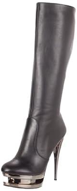 High-Heels-Stiefel: Pleaser Day & Night Plateau High Heel Stiefel FASCINATE-2010 - Glattleder 38,5 EU