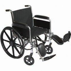 Roscoe Medical K32016Dhrel K3-Lite Wheelchair Removable Desk-Length Arms , Swing-Away Footrestspowder-Coated Silver Vein Steel