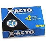 X-Acto X602 #2 Blades for X-Acto Knives, Bulk Pack, 100 Blades per Box
