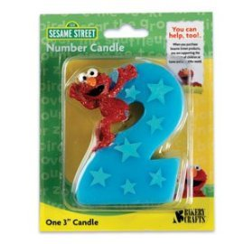 Sesame Street Elmo Number 2 Birthday Cake Candle - 1