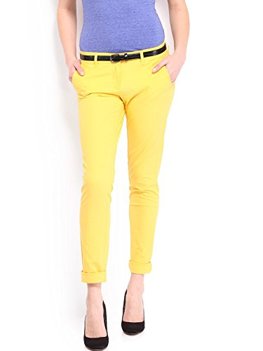 Skinny-Fit-Womens-Yellow-Jeans