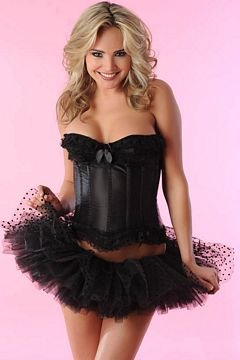 Velvet Kitten Dot Tutu in Black