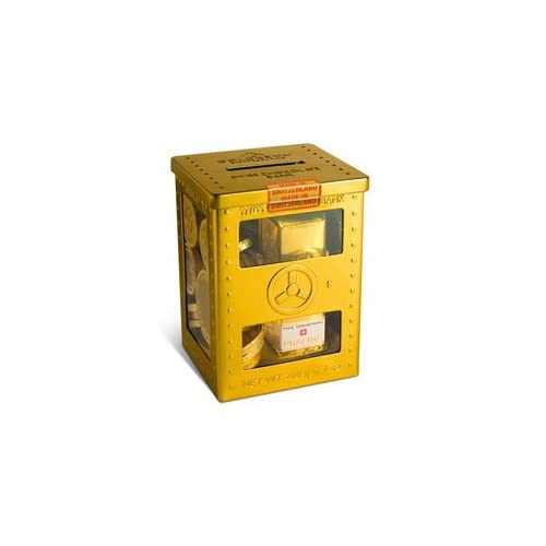 Amazon.com : Goldkenn Fine Swiss Chocolate - Mini Metal Safe with Milk